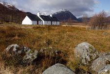 Free Black Rock Cottage - Scotland Royalty Free Stock Photo - 14549335