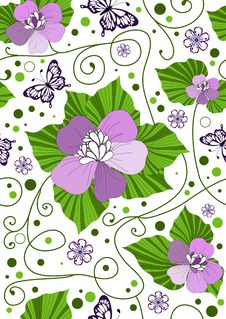 Free Seamless Floral Pattern Stock Image - 14549361