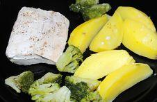 Free Seasoned Mahi-Mahi Plate Stock Photography - 14549462