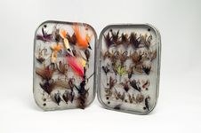 Old Dry Fly Case Stock Photography
