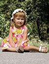 Free Cute Little Girl Sit Royalty Free Stock Images - 14553989