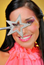 Free Beautiful Woman With Creative Make-up And The Star Stock Photography - 14557722