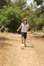 Free With Ball On The Forest Path Stock Photo - 14558110