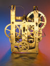 Free Clockwork In Gold Royalty Free Stock Image - 14558536