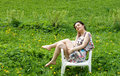 Free Girl Resting In A Chair Royalty Free Stock Images - 14558579