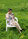 Free Girl Resting In A Chair Royalty Free Stock Photos - 14558618