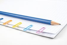 Free Paper Clips And Pencil Stock Photography - 14550562