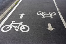 Two-way Cycle Path Stock Photos