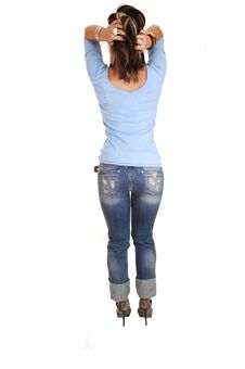 Free Young Woman Standing From Back. Royalty Free Stock Photos - 14551918