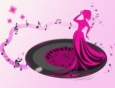 Musical Plate Stock Image