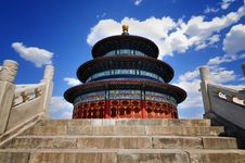 Free Chinese Architecture-Temple Of Heaven Royalty Free Stock Images - 14552389