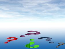 Question Marks Background Royalty Free Stock Photography