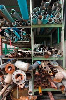 Pipes Pvc. Royalty Free Stock Image
