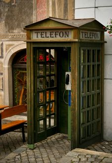 Free Old Czech Telephone Booth Stock Photography - 14553222