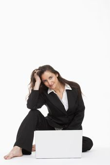 Free Woman With Laptop Royalty Free Stock Photos - 14553478