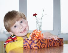 Free The Boy With A Gift Stock Images - 14553534