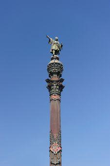 Columbus Column, Barcelona Spain Royalty Free Stock Photo
