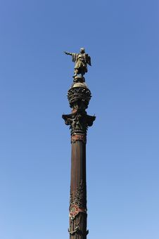 Free Columbus Column, Barcelona Spain Royalty Free Stock Photo - 14553795