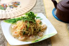 Free Tofu Wire And Shrimp Meat Royalty Free Stock Photos - 14553798