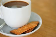 Free Coffee Break With Biscuits Stock Photography - 14553902