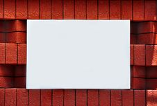 Free Blank Sign On A Brick Wall Stock Photography - 14554162