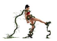 Free Girl Being Cought In A Plant Stock Images - 14554554