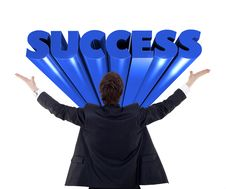 Free Businessman With Arms Raised Royalty Free Stock Photos - 14554568