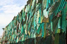 Zinc Wall Stock Image