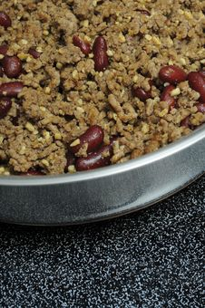 Hamburger Meat And Kidney Beans Royalty Free Stock Images