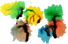 Free Abstract Paint Drops And Dribbles Royalty Free Stock Images - 14554729
