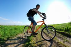 Free Cyclist In Action Stock Images - 14554734