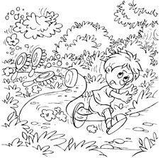 Free Boy Running Away Along A Path Royalty Free Stock Photos - 14555248