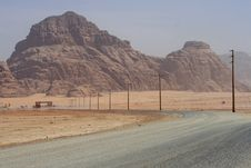 Free Road To The Wadi Rum Desert Stock Photos - 14555273