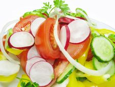 Free Fresh Vegetable Salad Closeup Stock Photos - 14555393