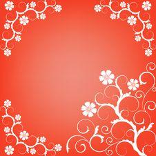 Ornate Scroll Floral Design Stock Photos