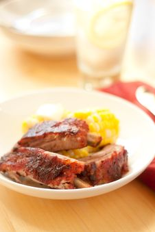 Free Baby Back Ribs Royalty Free Stock Photography - 14555667