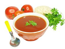 Free Vegetable Tomato Soup Stock Images - 14555744