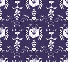 Free Seamless Ornate Floral Background Royalty Free Stock Photos - 14555778