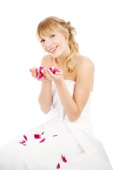 Free Bride With Flower Petals Royalty Free Stock Photo - 14555835