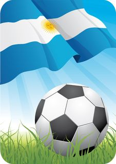 Free World Soccer Championship 2010 - Argentina Royalty Free Stock Photo - 14556005