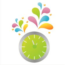 Free Colorful Clock Background Stock Photos - 14556253