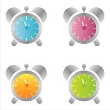 Free Set Of 4 Clock Icons Stock Images - 14556274