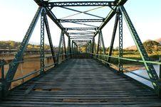 Free Green Iron Bridge Stock Photo - 14556450