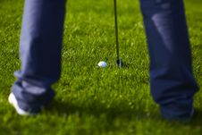 Free Golf Ball Position Before The Sing Royalty Free Stock Photography - 14556987