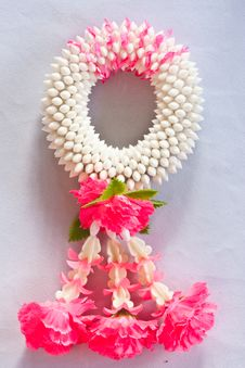 Thai Style Of Plastic Flower Garland Stock Image