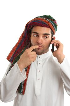 Free Pondering Arab Businessman Stock Images - 14557134