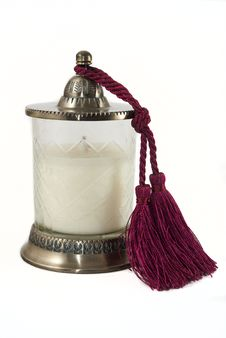 Free Candle Holder With Tussle Royalty Free Stock Images - 14557469