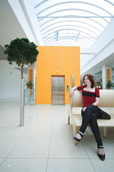 Woman In  Shopping Mall Stock Photography