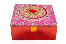 Free Square Red Jewellery Box Royalty Free Stock Photo - 14557845