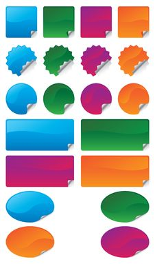 Free Color Stickers Set Stock Photography - 14557992